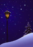 Lâmpada de rua mágica do Natal Fotos de Stock Royalty Free