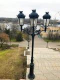 Lâmpada de rua na tarde fotografia de stock