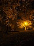 Lâmpada de rua no crepúsculo fotografia de stock