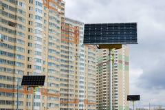 Lâmpada de rua posta por baterias solares Fotos de Stock Royalty Free