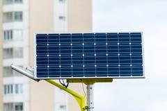 Lâmpada de rua posta por baterias solares Imagem de Stock Royalty Free
