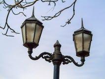 Lâmpada de rua velha Foto de Stock