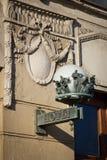 Lâmpada de rua velha com nota do â da palavra Fotos de Stock Royalty Free