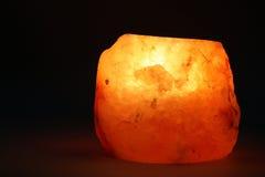 Lâmpada de sal da vela do chá Fotografia de Stock