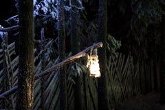 A lâmpada de suspensão Fotografia de Stock