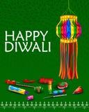 Lâmpada de suspensão decorada para a celebração de Diwali Fotografia de Stock Royalty Free