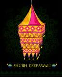 Lâmpada de suspensão decorada para a celebração de Diwali Fotografia de Stock