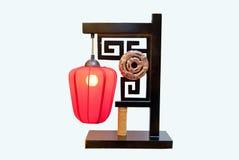 Lâmpada de tabela tradicional chinesa imagem de stock royalty free