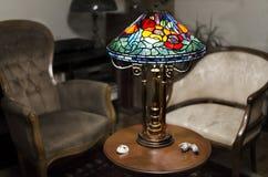 Lâmpada de Tiffany fotografia de stock