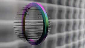 Lâmpada de vidro do arco-íris ilustração royalty free