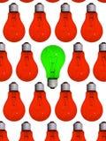 lâmpada diferente verde Fotos de Stock