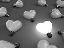 Lâmpada do coração Fotos de Stock