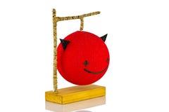 Lâmpada do diabo vermelho Fotografia de Stock Royalty Free