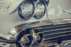 Lâmpada do farol do estilo clássico retro do vintage do carro Foto de Stock Royalty Free