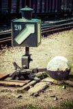 Lâmpada do interruptor da estrada de ferro fotografia de stock