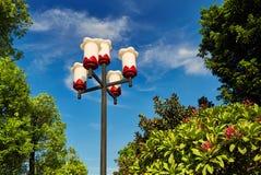 Lâmpada do jardim, luz exterior, iluminação da paisagem imagem de stock royalty free