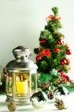 Lâmpada do Natal no branco Imagens de Stock Royalty Free
