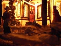 Lâmpada do Natal sob a forma de uma casa imagem de stock