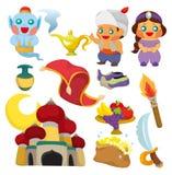 Lâmpada dos desenhos animados do ícone de Aladdin ilustração royalty free
