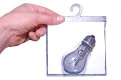 Lâmpada e mão Imagem de Stock
