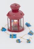 Lâmpada e presentes pequenos Imagem de Stock
