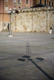A lâmpada e a sombra Foto de Stock