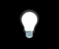 Lâmpada elétrica branca brilhante Fotos de Stock Royalty Free