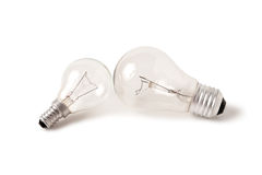 Lâmpada elétrica do bulbo dois Foto de Stock Royalty Free