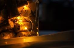 Lâmpada incomum da noite do projeto Fotografia de Stock Royalty Free