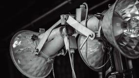 Lâmpada industrial do metal no estilo do vintage fotos de stock