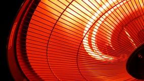 Lâmpada infravermelha do calefator video estoque
