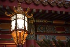Lâmpada japonesa dourada Foto de Stock