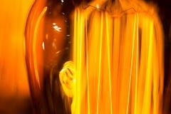 A lâmpada luminescente da espiga do filamento rosqueia o macro Fotos de Stock