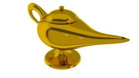 Lâmpada mágica de Aladdin 3d rendem Fotos de Stock Royalty Free