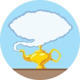 Lâmpada mágica estilizado Imagens de Stock Royalty Free
