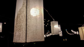 Lâmpada na noite Imagens de Stock