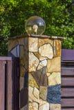 Lâmpada na parede da cerca da casa Fotos de Stock Royalty Free