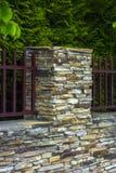 Lâmpada na parede da cerca da casa Imagens de Stock Royalty Free
