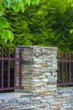 Lâmpada na parede da cerca da casa Imagem de Stock Royalty Free