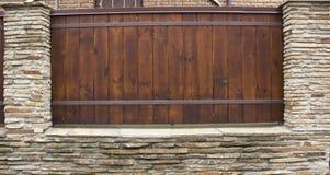 Lâmpada na parede da cerca da casa Imagens de Stock