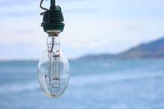 Lâmpada no barco de pesca Imagens de Stock