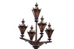 A lâmpada retro velha, isolada Fotografia de Stock Royalty Free
