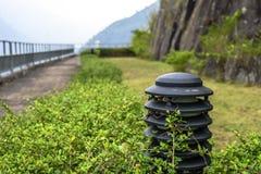 A lâmpada situada no parque público imagens de stock royalty free