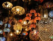 Lâmpada turca do mosaico foto de stock royalty free