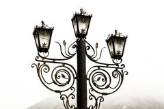 Lâmpada velha na névoa No branco Imagem de Stock