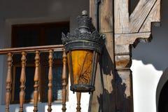 Lâmpada velha no lui Manuc de Hanul da pensão do ` s de Manuc Imagem de Stock
