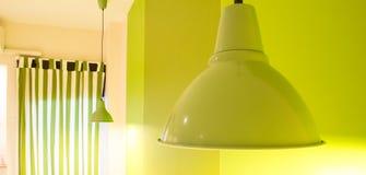 Lâmpada verde Fotografia de Stock Royalty Free