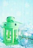 Lâmpada verde Fotos de Stock