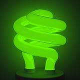 Lâmpada verde fluorescente Imagens de Stock