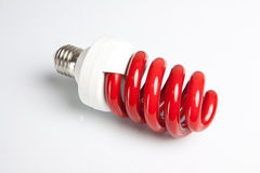 Lâmpada vermelha fotografia de stock